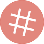 dlvrit hashtag circle